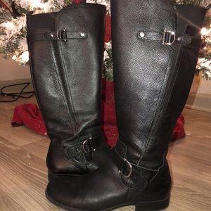 317583db518 Naturalizer Shoes - Naturalizer Jillian Black Leather Boots Size 9